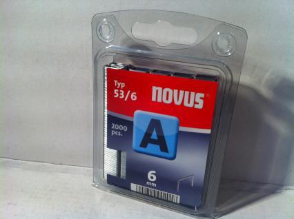 Tackerklammern Typ 53/530 6mm 2000 Stück von NOVUS