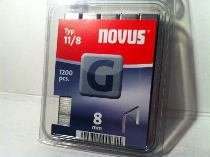 Tackerklammern Typ 11 /140 8mm 1200 Stück von Novus