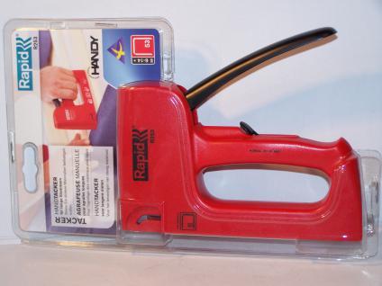 Handtacker Rapid R253 für Klammern Typ 53/530 von 6-14mm incl. 1000 Klammern