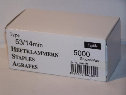 Tackerklammern Typ 53/530 14mm 5000 Stück von Reptile-Rapid