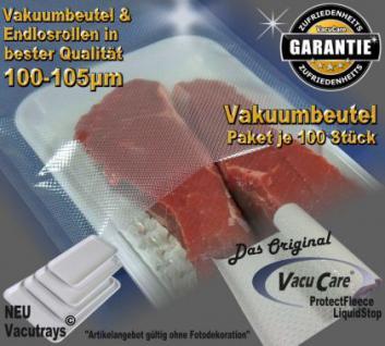 100 Vakuumbeutel goffriert 10 x 30cm, Strukturbeutel Vakuumtuete Vakuumfolie für ALLE Vakuumierer Vakuumiergeräte