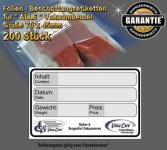 200 Stk. Folien - Beschriftungsetiketten, wasserfest, bis -25 °C, für ALLE Vakuumbeutel Strukturbeutel Vakuutuete und Folienbeutel