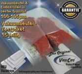 Testpaket 15-teilig Vakuumbeutel goffriert, für ALLE Vakuumierer Vakuumiergeräte z.B. Foodsaver, LA.VA, Solis, Genius, Gastroback etc.