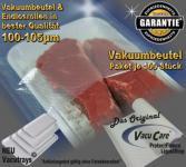 100 Vakuumbeutel goffriert 22 x 70cm, für ALLE Vakuumgeräte z.B. Foodsaver LA.VA Lava Solis Genius Gastroback etc.