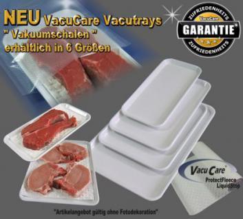 2 Stk. Vakuumschalen - Vacutrays 280 x 140 x 10mm, für ALLE Vakuumgeräte z.B. Foodsaver LA.VA Lava Solis Genius Gastroback etc. - Vorschau 1