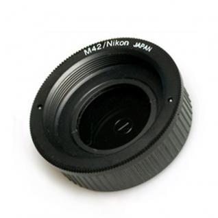 M42-Gewinde auf Nikon F Kameras mit Linse