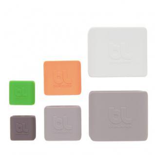 BlueLounge CableClips Small 3x grün, 3x dunkelgrau - Vorschau 4