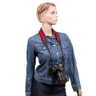 Delamax Neopren Kameragurt 120cm/4cm rot/sw NS-8 - Vorschau 2