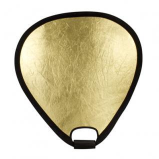 Delamax Handreflektor 40cm gold/silber - faltbar RE - Vorschau 3