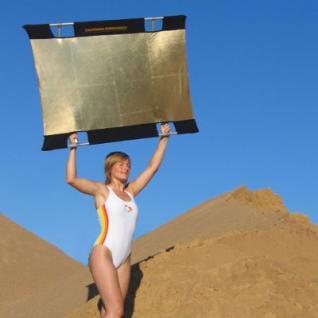SUN-BOUNCE Mini KIT 90x125cm gold/weiß - 100-130 Pa