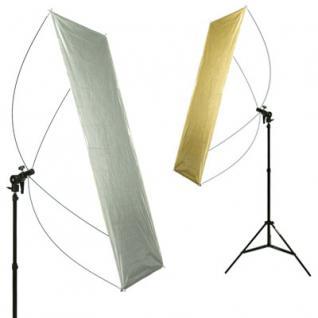 Delamax SET Reflektor Panel 120x60 go/si + Stativ m