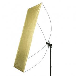 Delamax SET Reflektor Panel 120x60 go/si + Stativ m - Vorschau 2