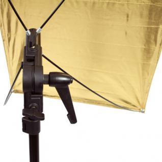 Delamax SET Reflektor Panel 120x60 go/si + Stativ m - Vorschau 3