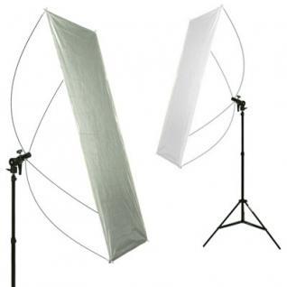 Delamax SET Reflektor Panel 120x60 si/wß + Stativ m
