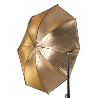 Reflexschirm A=schwarz I=gold 109cm/43 Zoll H03 - Vorschau