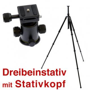 Delamax SET Stativkopf DT-7 -Dreibeinstativ 4 Sekt