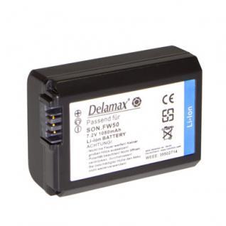 Delamax Akku für Sony NEX3, 5 + A33, 55 w. NP-FW50
