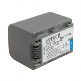 Delamax Akku für Sony CamCorder wie NP-FP70