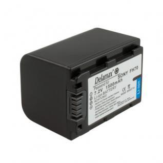 Delamax Akku für Sony CamCorder wie NP-FH70