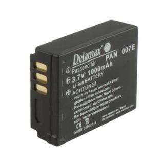 Delamax Akku für Panasonic Lumix wie CGA-S007 wie 0