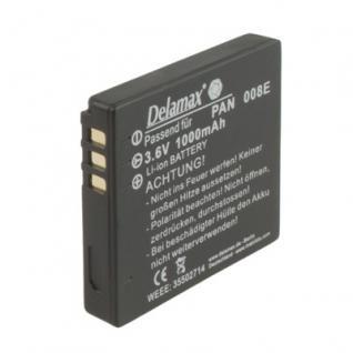 Delamax Akku für Panasonic Lumix wie CGA-S008 wie 0