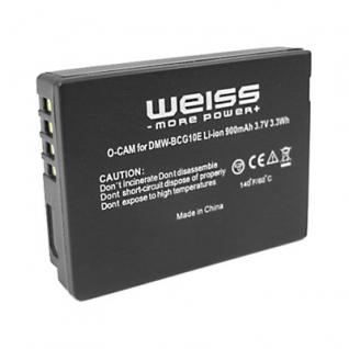 WEISS Akku DMW-BCG10E wie Panasonic DMW-BCG10E für