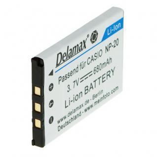Delamax Akku für Casio Exilim w. NP-20 3.7V 680mAh