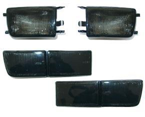 Reflektor+Blinker SET Schwarz Golf 3 11/91-12/97