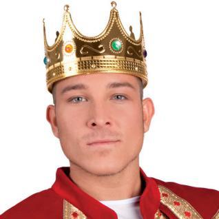 Krone gold 20 cm mit Ziersteine, Königskrone, König