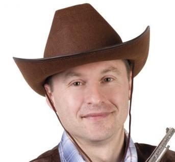 Cowboy Hut braun Größe 59 - PREISHIT - Karneval Fasching Western