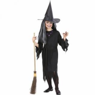 TOP Kinder Hexenkostüm 140 8 - 10 J. Kostüm Hexe Zauberin Magierin Halloween