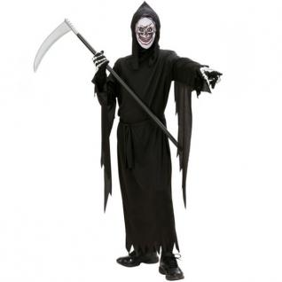 SENSENMANN KOSTÜM mit MASKE Gr.140 8-10 J. Halloween Tod Kinder Kostüm