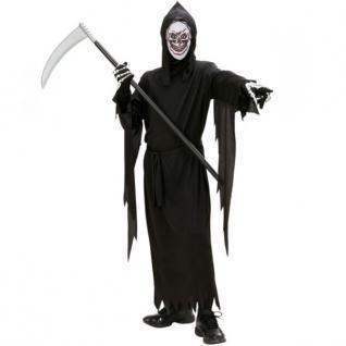 SENSENMANN KOSTÜM mit MASKE Gr.158 11-13 J. Halloween Tod Kinder Kostüm