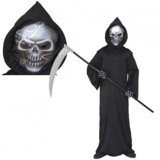 KINDER SENNSENMANN KOSTÜM MIT MASKE 128 5-7 J Halloween Tod 5550