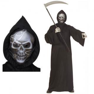 SENSENMANN KOSTÜM Gr. S (46) Halloween Herren Männer Tod Grusel Verkleidung