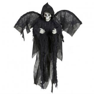SENSENMANN TOD 51 cm Hängefigur Halloween Deko Skelett Gerippe Knochenmann