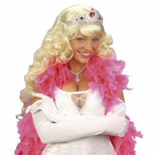 LANGE WEISSE HANDSCHUHE 60 cm Karneval Charleston Party Kostüm Zubehör