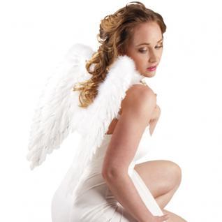 Flügel 50 x 50 cm weiß mit echten Federn, Engelsflügel