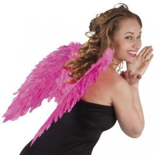 Flügel 50 x 50 cm pink mit echten Federn, Engelsflügel