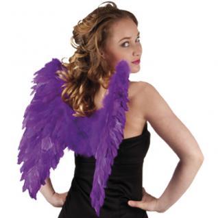 Flügel 50 x 50 cm violett mit echten Federn, Engelsflügel