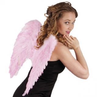 Flügel 50 x 50 cm rosa mit echten Federn, Engelsflügel