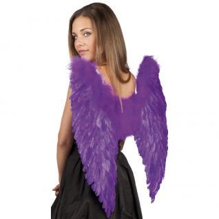 Flügel mit echten Federn 65 x 65 cm violett Engelsflügel
