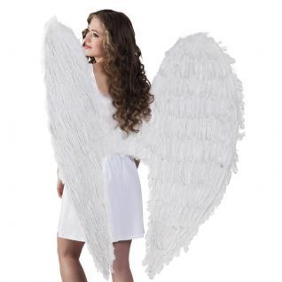 Federflügel 120 x 120 cm weiß Engelsflügel