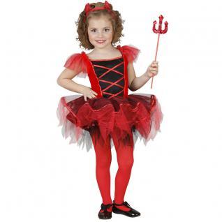 Mädchen Teufel Kostüm BALLERINA TEUFELCHEN Gr. 116 Karneval Halloween