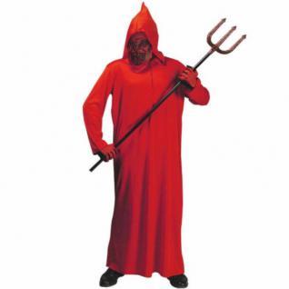 Kinder Teufel Kostüm mit Kapuzenmaske rot Gr. 128, 140,158 Karneval Halloween