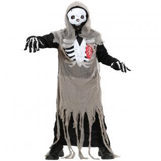 skelett zombie kinder kost m halloween horror gr 122 128. Black Bedroom Furniture Sets. Home Design Ideas