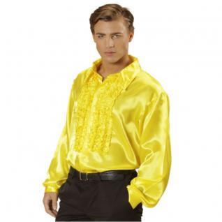 satin r schenhemd herren gelb hippie kost m 70er 80er jahre gr m l xl xxl kaufen bei. Black Bedroom Furniture Sets. Home Design Ideas