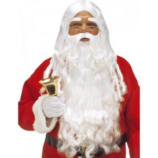 Luxus Weihnachtsmann Perücke mit Bart & Augenbrauen Santa Nikolaus