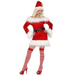 Kostüm Miss Santa Plüsch Auswahl Gr. S M L