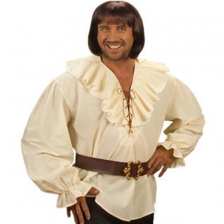 Piratenhemd beige Pirat XL 54 Herren Hemd Rüschenhemd Mittelalter Shirt